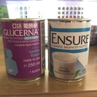 Glucerna and Ensure can milk for sale