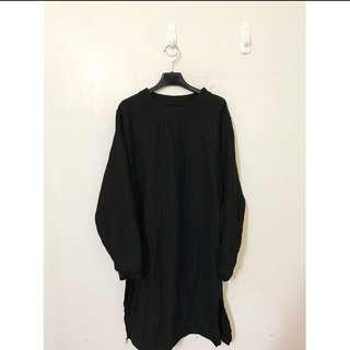 長版顯瘦洋裝 簡單就是好看 暗黑系列 帥氣好看喔