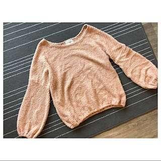 燈籠袖毛衣