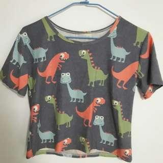 🚚 恐龍短版上衣