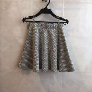 韓版-菱格優雅設計-挺版短裙