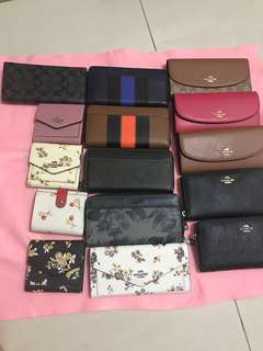 (23/3/18)Ready Stock Original Coach women wallet purse purse pouch coin bag