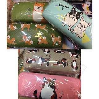 日本直送 人造皮日系可愛貓狗做型眼鏡盒