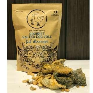 Original The Golden Duck GOURMET SALTED EGG YOLK FISH SKIN [125g]