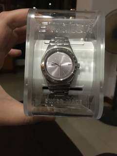 Swatch stainless steel ladies watch
