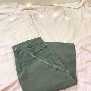 抽鬚三角口袋造型中長裙