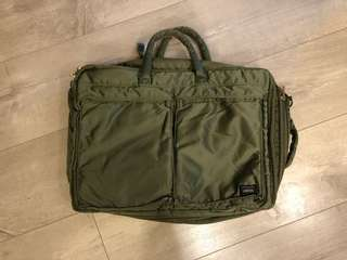Porter 3way brief case (絕版綠色已停產)90%new