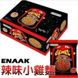 《現貨便宜賣》現貨📢網路熱銷商品 韓國 Enaak 辣味小雞麵  點心麵 辣雞麵(一盒14gx30小包) 超夯零食
