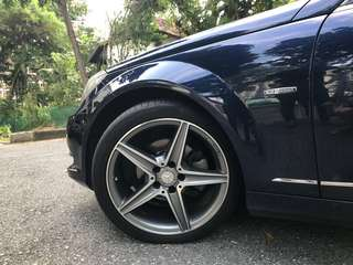 "Original 18"" AMG Rims (Staggered) with new Continental Tyres!"