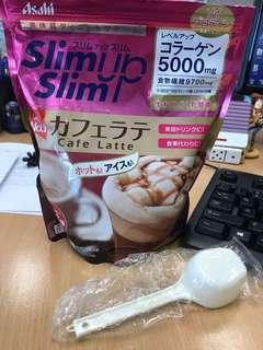 日本slim up slim cafe latte 食物纖維乳酸菌即沖飲