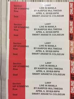 LANY VIP Tickets