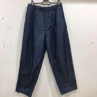 GU-寬版薄長褲