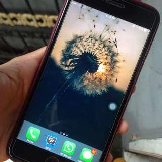 Iphone 6 + plus 16gb black eks cewek fullset