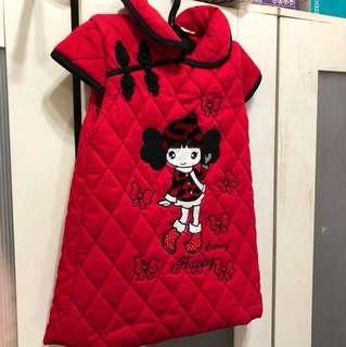 年節紅色女童裝