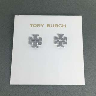 Tory Burch Sample Earrings 銀色經典logo耳環