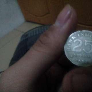Uang rp.25 1971