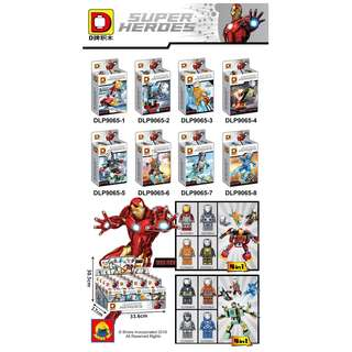 DLP 9065 Iron Man 8in1 Minifigures Set