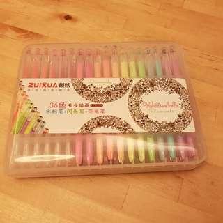 36 colors pen 36色水筆