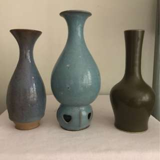 Lot Of Three Porcelain vases