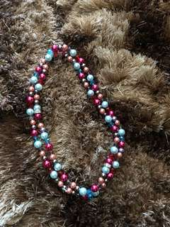 Pearl with Crystals Necklace