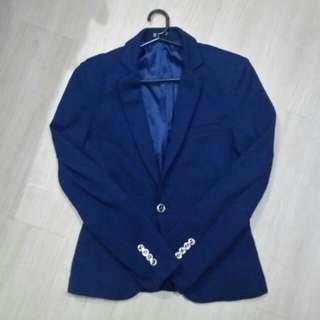 Navy Blue & Red Blazer Jacket / Coat