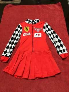Preloved F1 Racer Costume for Girls
