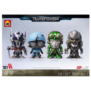 4 Pcs Super Deformed Figures Transformers Last Knight KO Set