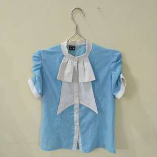 [No Brand] Blouse baby blue