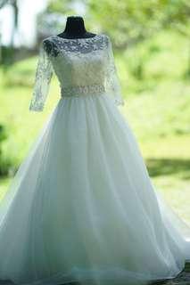 Preloved Wedding Gown (customized) by Merlene Marcelo