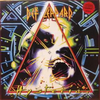 Vg+ Def leppard record vinyl hysteria rock uk