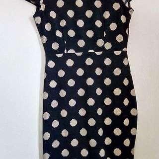 Forever21 Low Back Polka Dress