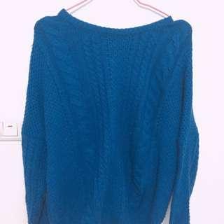 寶藍針織毛衣