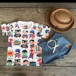 Superhero graphic cotton t shirt