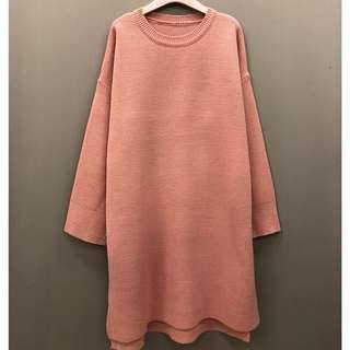「全新」針織長版毛衣