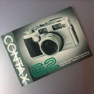 contax G2 manual