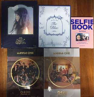 [For Collection] WANNA ONE - Mini Album Vol.2 [0+1=1(I PROMISE YOU)] / TaeYeon - SPECIAL LIVE The Magic of Christmas Time DVD / Red Velvet - SELFIE BOOK : RED VELVET / APRIL - Mini Album Vol.5 [The Blue]