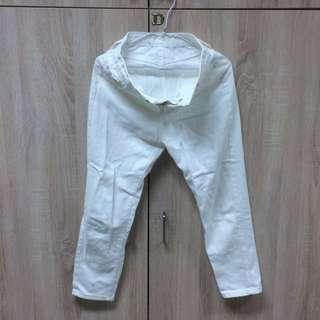 [Softly]復古白色長褲