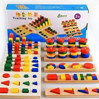 8-pc Montessori set