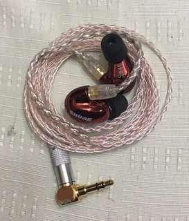 DIY 8絞 7N單晶銅加銀 耳機升級線 MMCX 或 其他
