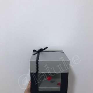 Transparent exploding box