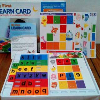 My first learn card (Spell time junior version)