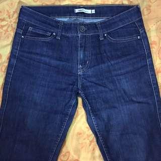 NET Jeans二手深藍色牛仔褲