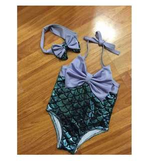 P/O Toddler girl mermaid swimsuit