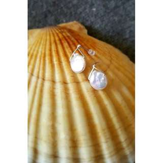 HANDMADE! Genuine Pearl Earrings 20051