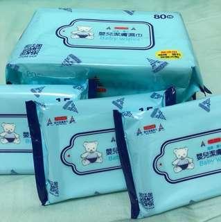🚚 UNIBABE 嬰兒潔膚濕巾 80抽/4包