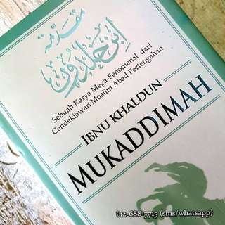 Mukaddimah karya Ibnu Khaldun