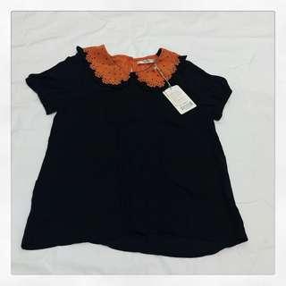 HQ ruffled colar blouse
