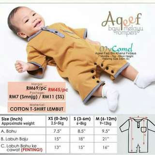 Rompers Baju Melayu baby