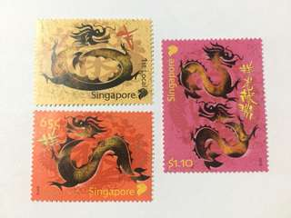 Singapore 2012 Zodiac series dragon mnh