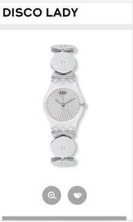 Swatch disco lady ladies watch